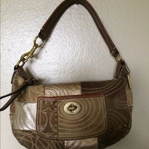 Authentic Coach Patchwork Mini Hobo Bag